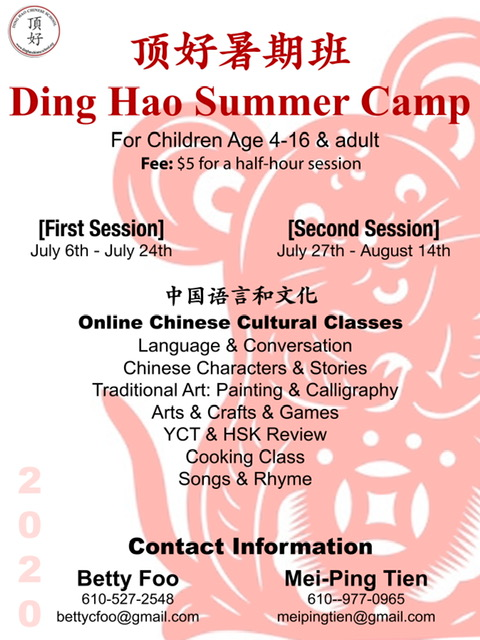 Ding Hao Summer Camp Flyer